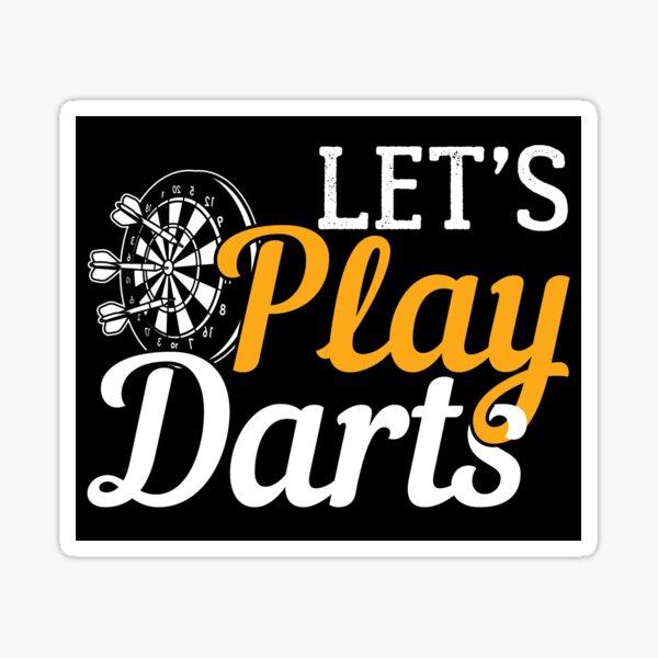 Let's Play Darts | Dartboard- Gift Sticker