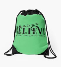 Believe in the Magic Drawstring Bag