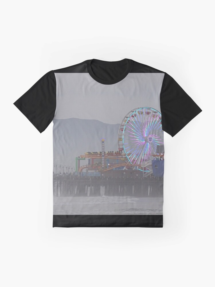 Alternate view of Santa Monica Pier  Graphic T-Shirt