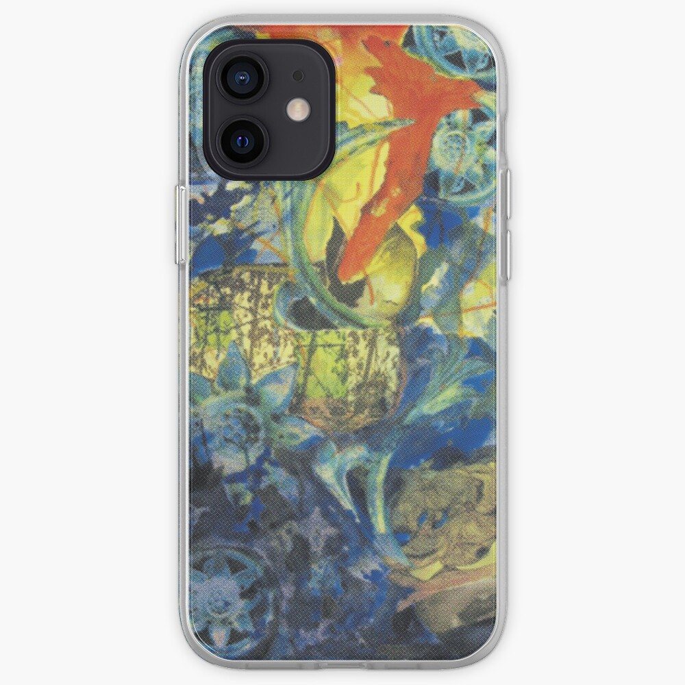 Collage painting art print - In the BLUE iPhone Case & Cover