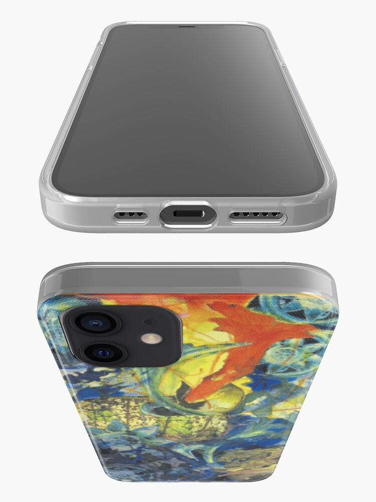 Alternate view of Collage painting art print - In the BLUE iPhone Case & Cover