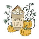 Pumpkin Spice Latte Drink by Printables Passions