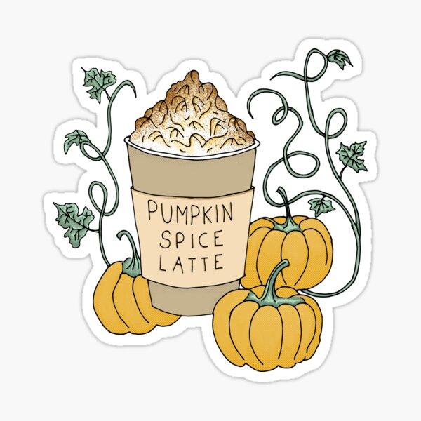 Pumpkin Spice Latte Drink Sticker