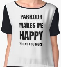 Parkour Lover Fan Funny Gift Idea Hobby Chiffon Top