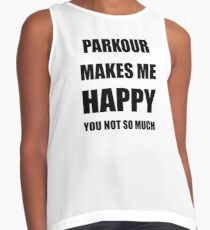 Parkour Lover Fan Funny Gift Idea Hobby Contrast Tank