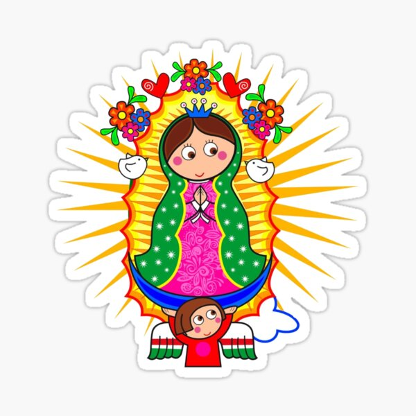 Caricatura de la Virgen de Guadalupe Pegatina