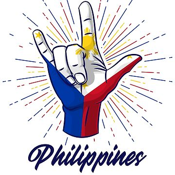 I Love You Philippines Hand Gesture Cute Gift by Teeleo