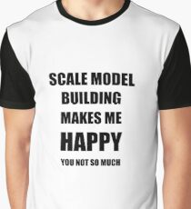 Scale Model Building Lover Fan Funny Gift Idea Hobby Graphic T-Shirt