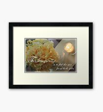 Yellow Flowers to Love Quote Framed Print