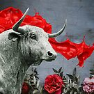 Bull and red paint by jsebouvi
