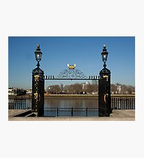 Greenwich pier gate Photographic Print