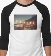 Venice Beach, vintage, oceanside, people,  beach photography, California photography Men's Baseball ¾ T-Shirt