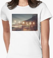Venice Beach, vintage, oceanside, people,  beach photography, California photography Women's Fitted T-Shirt