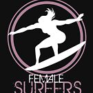 High impact illustration for surfers women by MegaSitioDesign