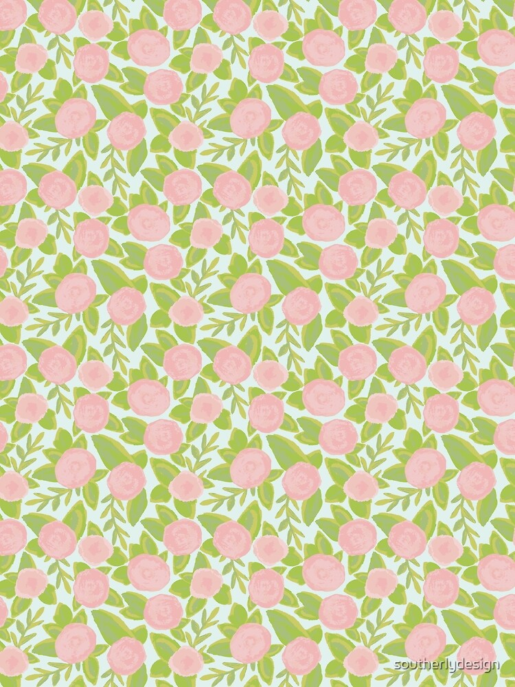 Watercolor Pink Florals & Laurels by southerlydesign