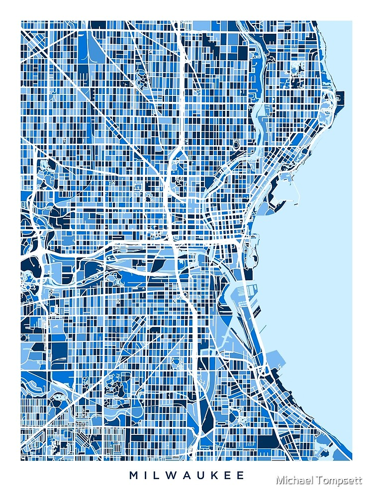 Milwaukee Wisconsin City Map by ArtPrints