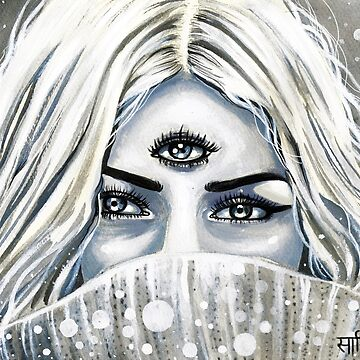 Divine Feminine Portrait ( inktober 9 ) Third eye by artbysavi