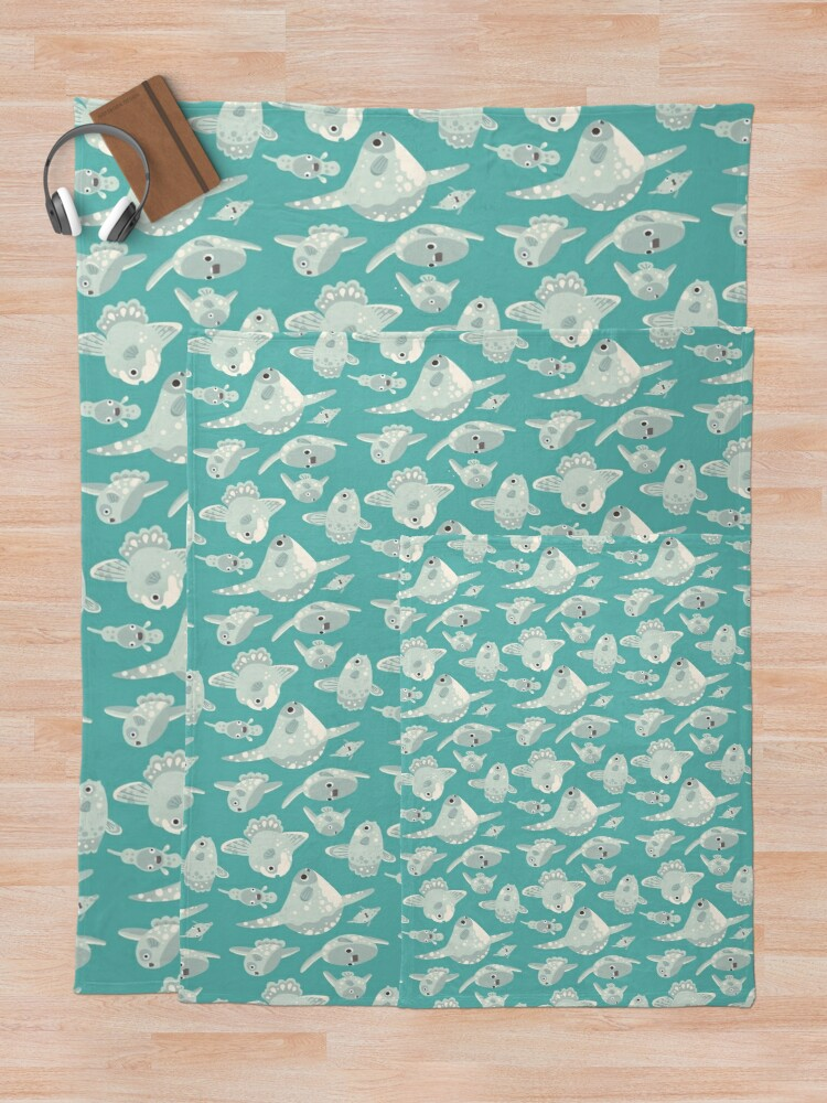 Alternate view of Mola Mola Throw Blanket