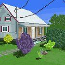 """""""Chemin de la butte aux renards"""", Pixel Art by Dominic Beaudoin"""