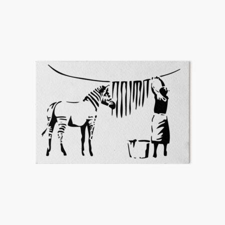 Banksy, A Woman Washing Zebra Stripes Artwork Reproduction, Posters, Tshirts, Prints Art Board Print