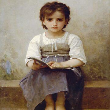 The hard lesson(La lecon difficile)-William Adolphe Bouguereau by LexBauer