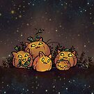 Pumpkin Cats by spiffy-keen