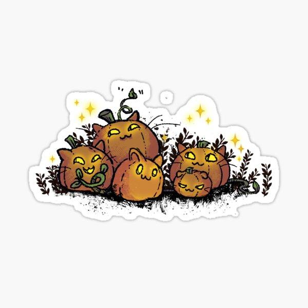 Pumpkin Cats Sticker