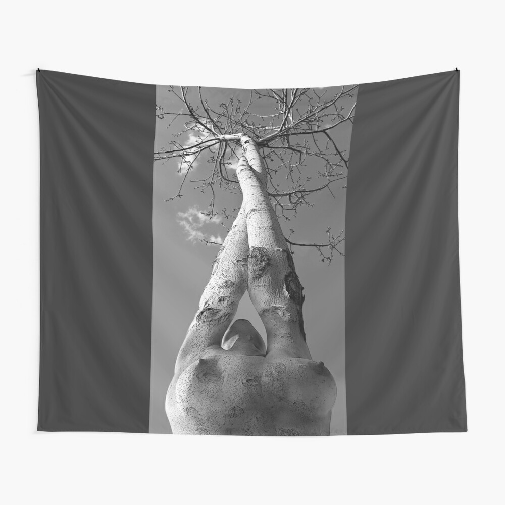 "Tree of life, Nude Art Print Erotic Sexy Collage Woman Girl Naked"" Tapestry  by MDAMYANOV 