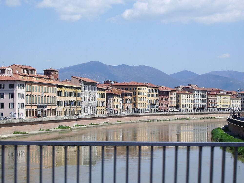 River through Pisa by Lael Woodham