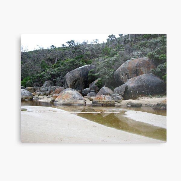 Amongst the rocks - Tidal River, Wilson's Prom. Metal Print