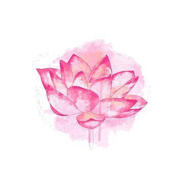 Flor de loto rosa de afremovartist
