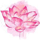 Rosa Lotusblume von Olga Chetverikova