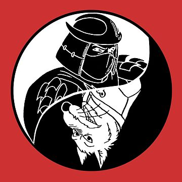 TMNT - Yin Yang - Shredder & Splinter 04 - White by DGArt