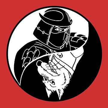 TMNT - Yin Yang - Shredder & Splinter 04 - White by DGArt
