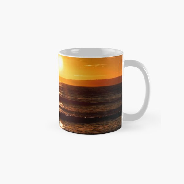 Glowing sunset over Swansea, South Wales Classic Mug