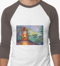 Twilight In The Garden Men's Baseball ¾ T-Shirt