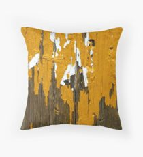 Once Clothed in White, then Yellow Ochre Throw Pillow