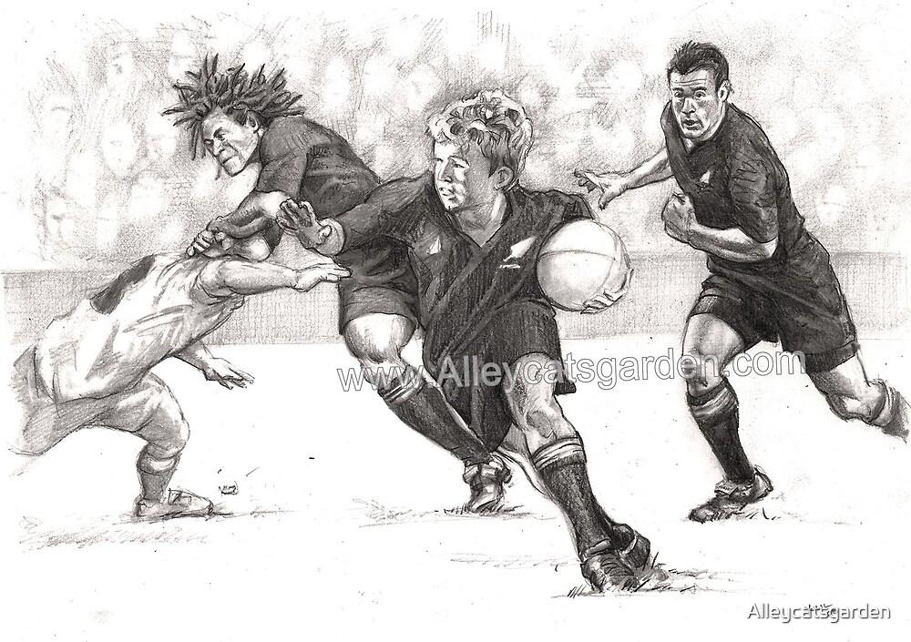 All Blacks Fan by Alleycatsgarden