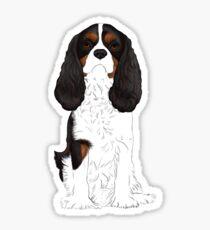 Cavalier King Charles Spaniel Tri-Color Sticker