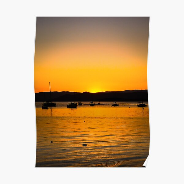 Sunset in Florianopolis, Brazil Poster