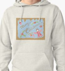 Retro vintage angel pattern on gold Pullover Hoodie
