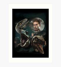 Three Raptors and a Pratt Art Print