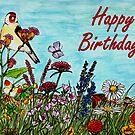 Birthday Greetings - Flower Meadow by EuniceWilkie