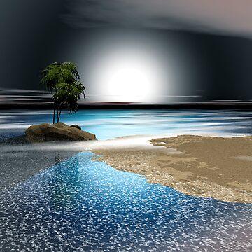 Romantic Moon Light Bay by Godwin