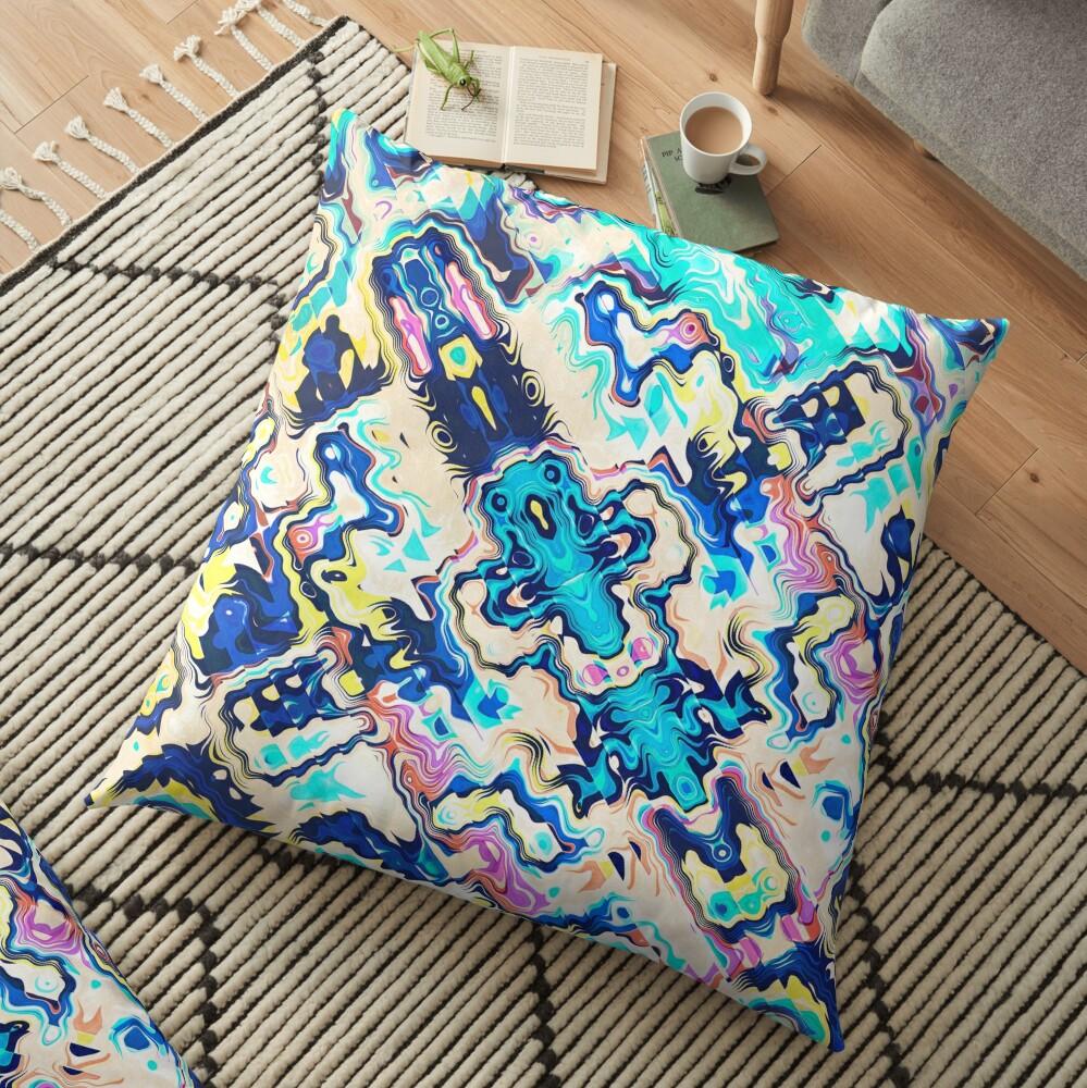 Abstract Aztec Pattern Floor Pillow