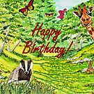 Friendly Faces Birthday Card by EuniceWilkie