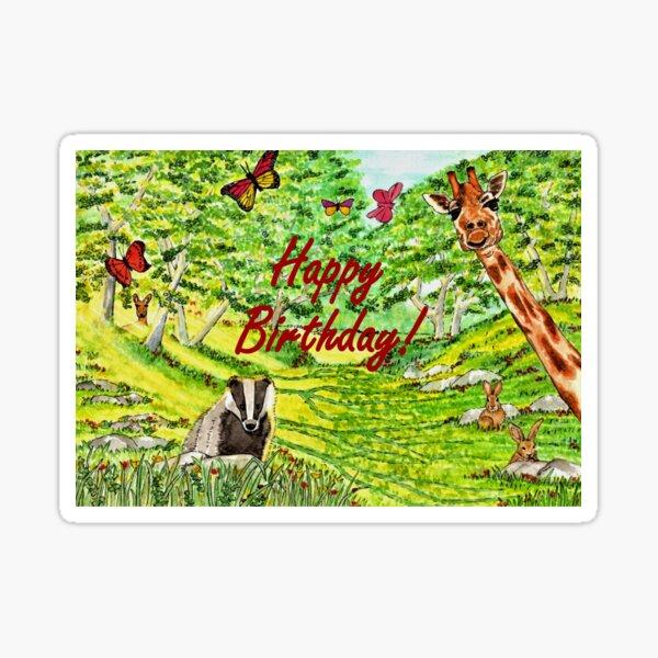 Friendly Faces Birthday Card Sticker