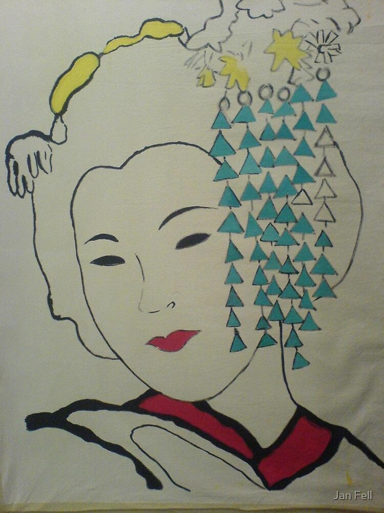 Japanese Geisha / Almost Finished by Jan Fell