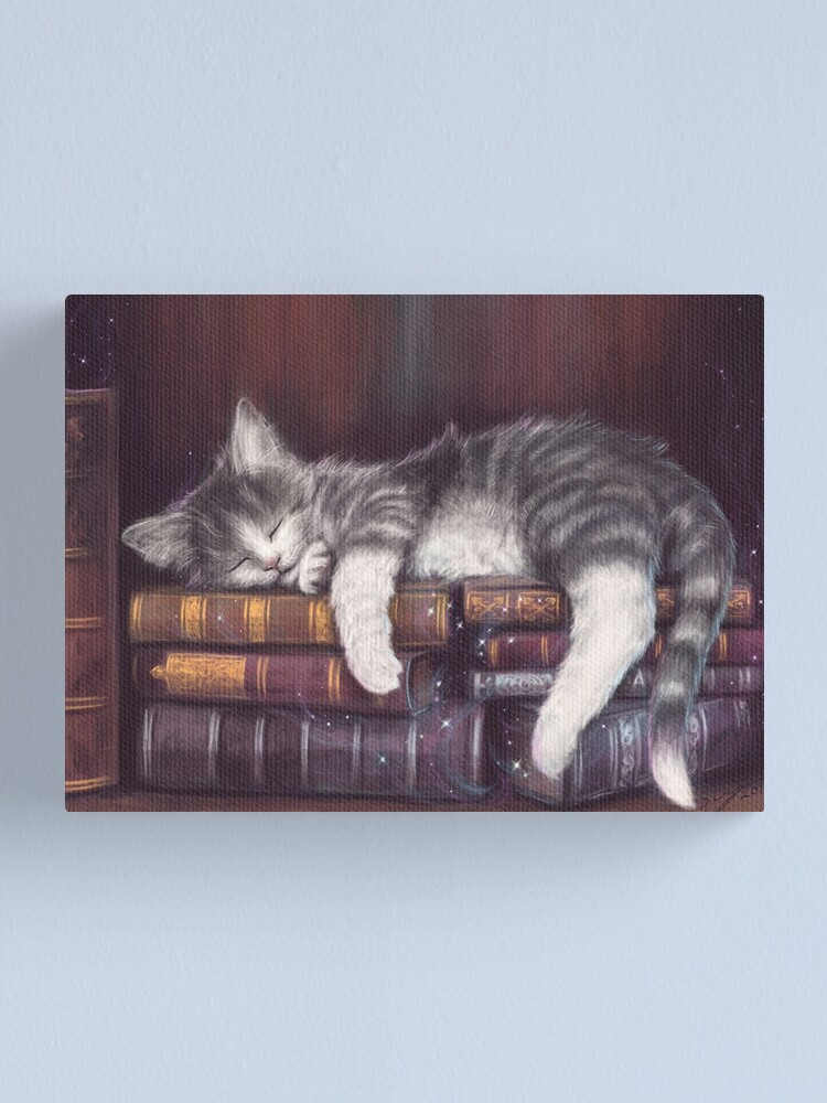 Alternate view of Keeper of the Books Canvas Print