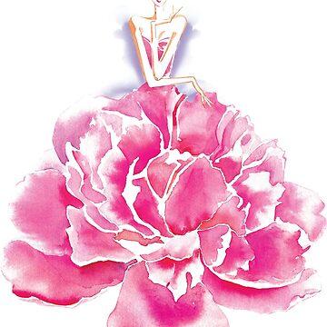 Mujer maravilla floral de afremovartist